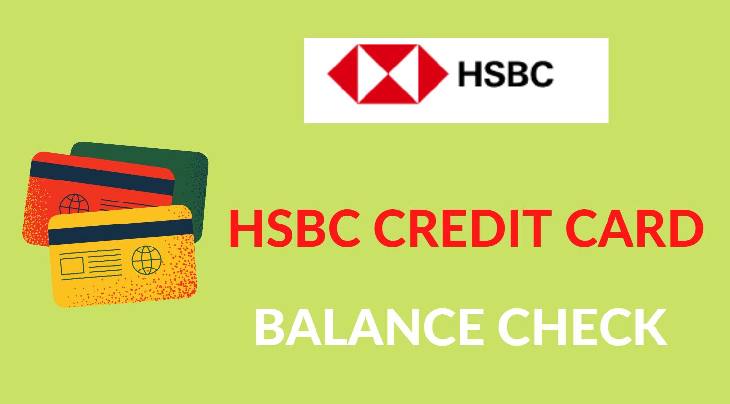 hsbc credit card balance check