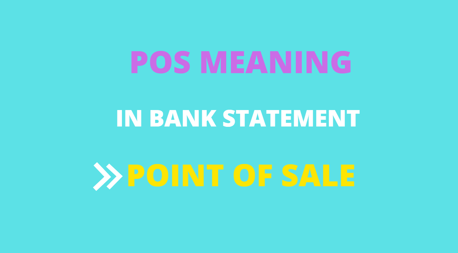 pos meaning in bank statement