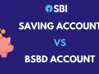 saving account vs bsbd account
