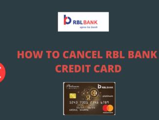 close or cancel rbl bank credit card