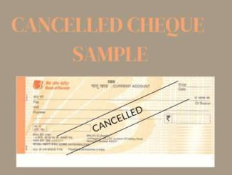 cancelled cheque sample