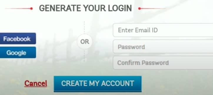 create account in rbl reward site