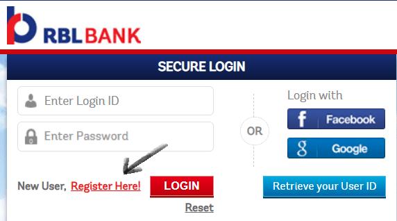 register for rbl bank reward site
