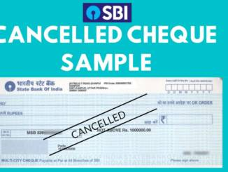 sbi cancelled cheque sample