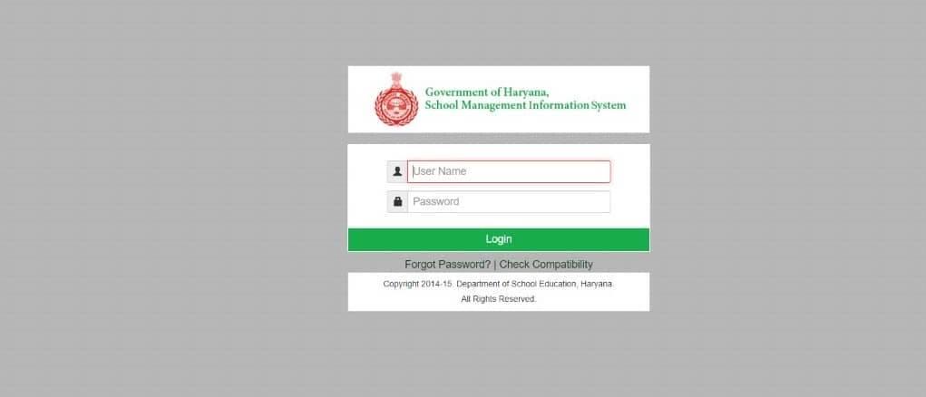 Saksham Haryana Education Portal Login