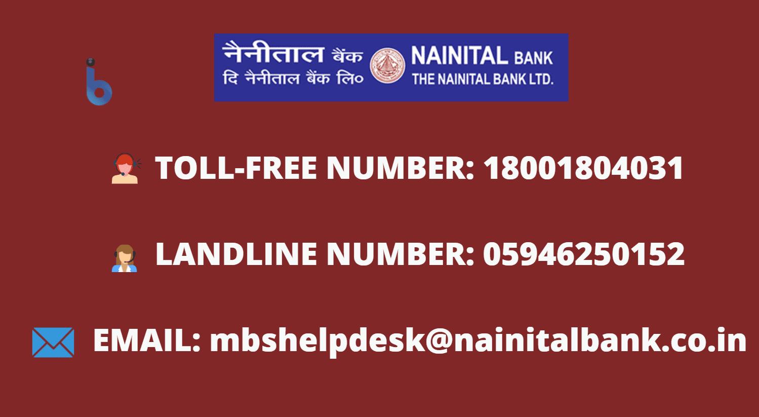 nainital bank balance check number